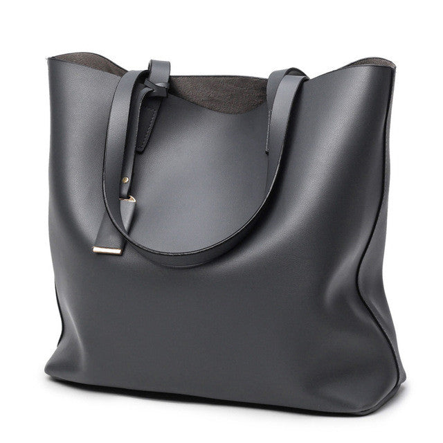 Black Shopper Tote Bag | thelaxboutique.com