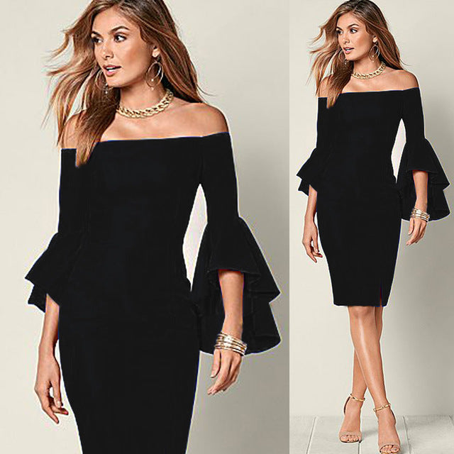 Off Shoulder Sexy Dress