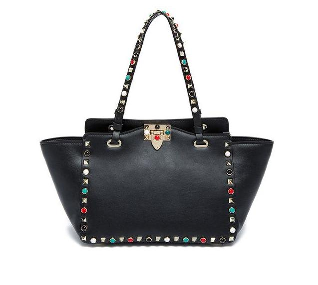 Luxury Rivet Handbags black - the lax boutique