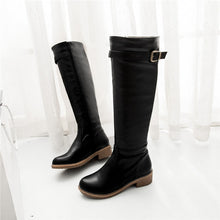 Chunky Low Heel Riding Boots