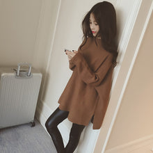 Loose Knitted Sweater Oversized Long Sleeves
