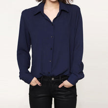 Fall Chiffon Sheer Blouse