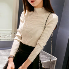Women's Sweater Elastic Turtleneck