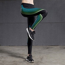 Green Sport Leggings Elastic Yoga Pants
