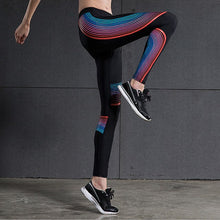 multi colored Sport Leggings Elastic Yoga Pants