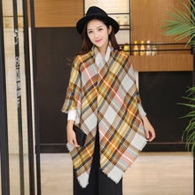 Plaid Women Scarf Cashmere