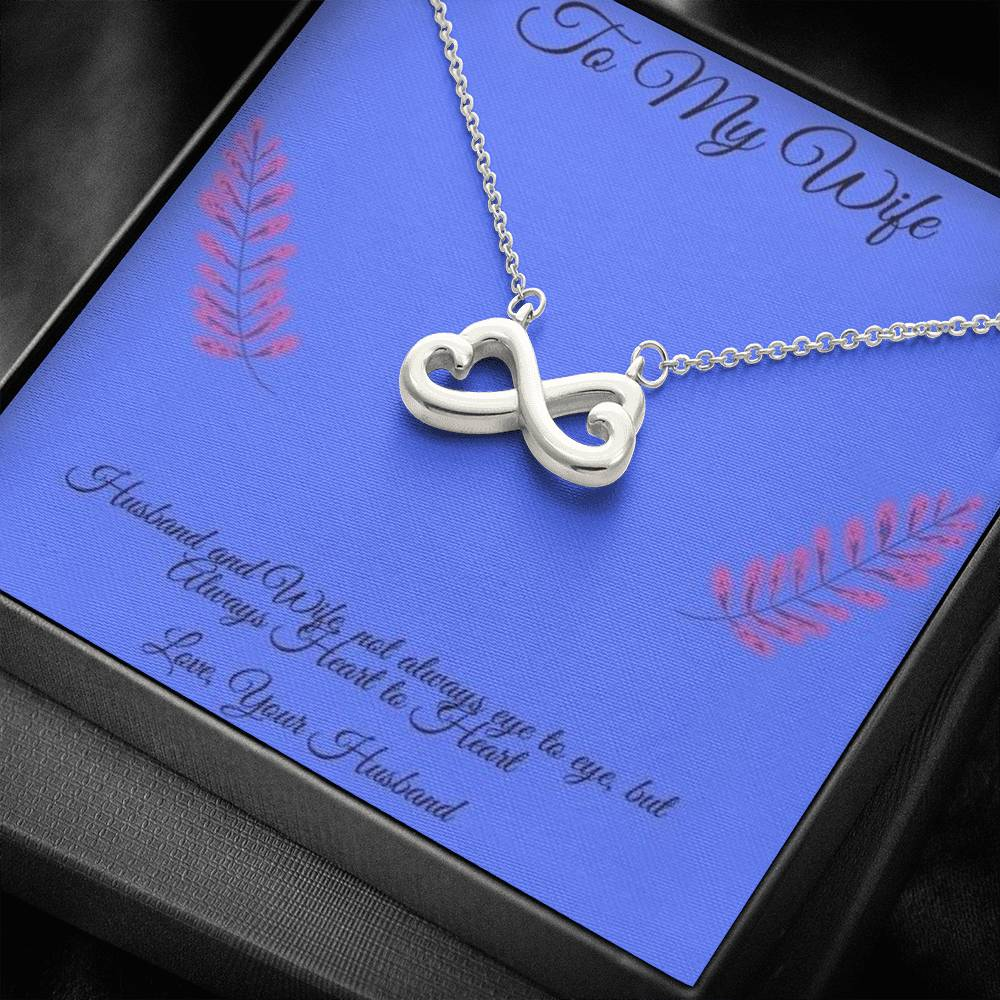 To My Wife Always Heart to Heart Necklace