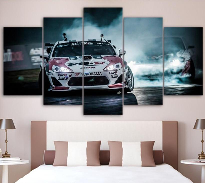 Toyota 86 Canvas HD Printed Modular Pictures Frame Wall Art Poster 5 Panel TOYOTA 86 FRS BRZ JDM Racing Car Canvas Painting Home Decor