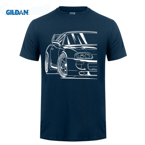 Mens Race Car 2JZ JDM Toyota Supra MK4 2JZGTE Tee Shirts S-XXXL Men's T Shirts 100% Cotton Fabric
