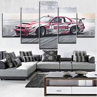 Modern Artwork For Living Room Or Bedroom Wall Decorative 5 Piece Nissa Tuning Car Poster High Quality Canvas Printing Type Draw