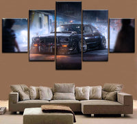 HD Print Painting On Canvas Wall Art Picture For Living Room 5 Panel Old Classic Sports Car Poster Decorative Modular Framework