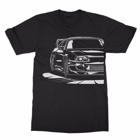 2018 Hot Sale Summer Japanese Car 2JZ GTE JDM T-Shirt Outline High Quality 100% Cotton For Man Shirts