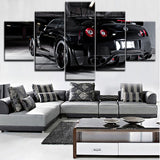 Wall Art Canvas HD Printed Painting Home Decorative Living Room Framework 5 Pieces Nissa Skyline Gtr Car Poster Modular Picture