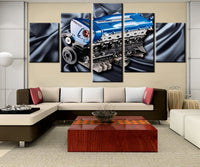 Modern Decorative 5 Pieces HD Printed Canvas Painting Nissan Skyline RB Engine For Modern Decorative Bedroom Living Room Home