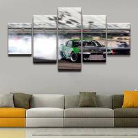 Painting On Canvas Modern Print Liveing Room Fashion Wall Art 5 Panel Sports Drift Racing Pictures Home Decor Poster Framework