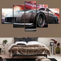 5 Pieces Nissan Tuning Car Poster Modern Home Wall Decorative Canvas Modular Picture Art HD Print Painting On Canvas Artworks