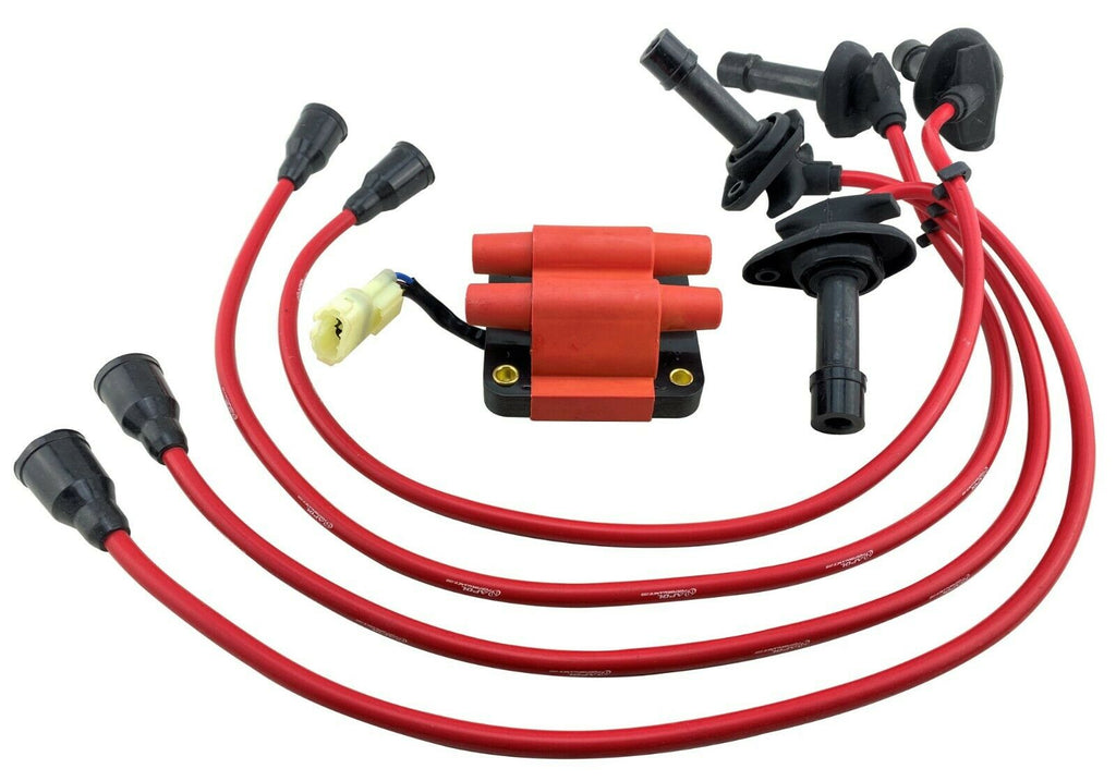IGNITION COIL SPARK PLUG WIRES for 96-98 JDM IMPREZA WRX STI FORESTER 2.0L V3 V4