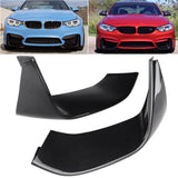 2PCS CARBON FIBER FRONT BUMPER SPLITTER LIP FOR BMW F80 M3 2015-18 F82 M4 14-18