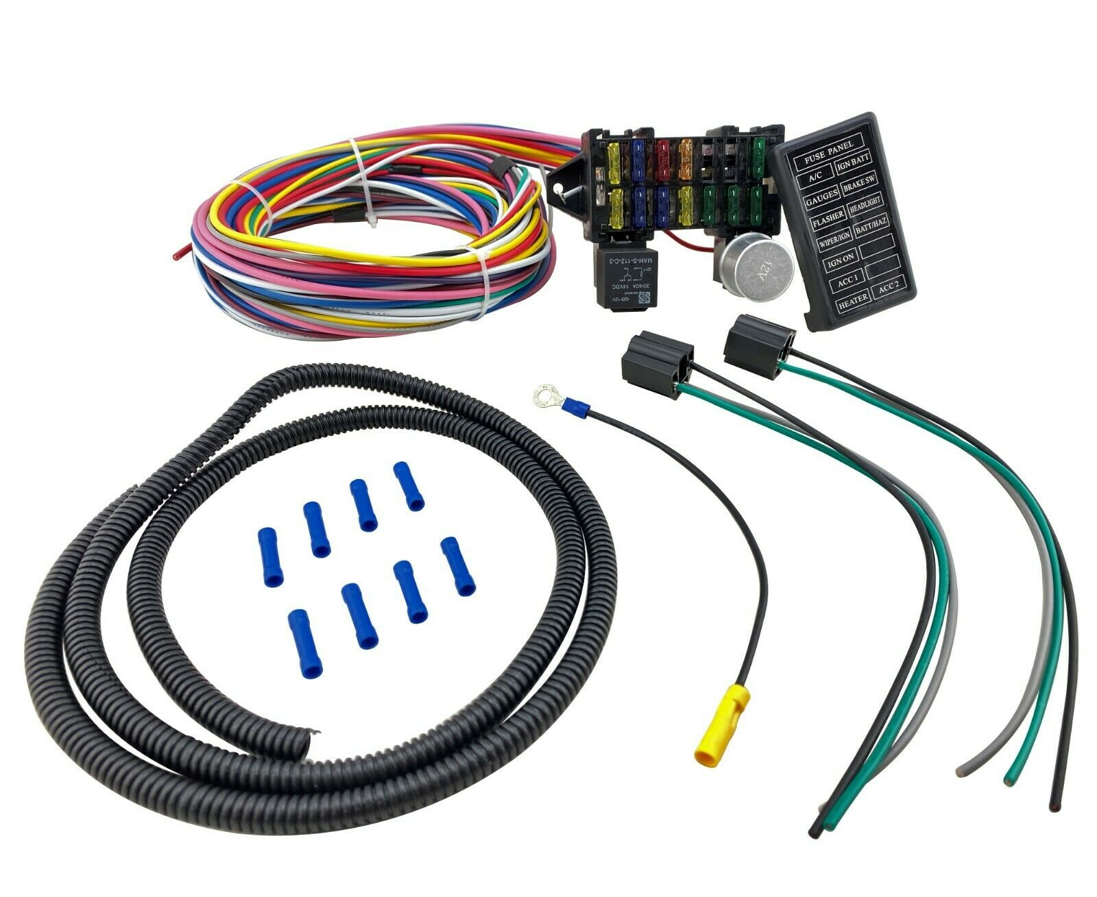 Fuse Relay 12 Circuit Wiring Harness for Chevy Mopar Ford Classic Stre    NPBoostedNPBoosted