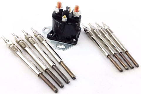 8 FORD POWERSTROKE POWER STROKE 7.3L TURBO DIESEL GLOW PLUGS SET RELAY SOLENOID
