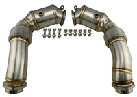 Exhaust Downpipes N63 S63 for 08-13 BMW 4.4L V8 Turbo X5M X6M xDrive50i E70 E71