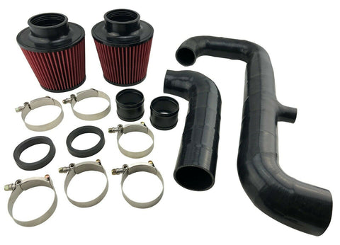 "1.75"" Stock Turbo Cold Air Intake Kit Relocated Filter for 2007-10 135i 335i N54"