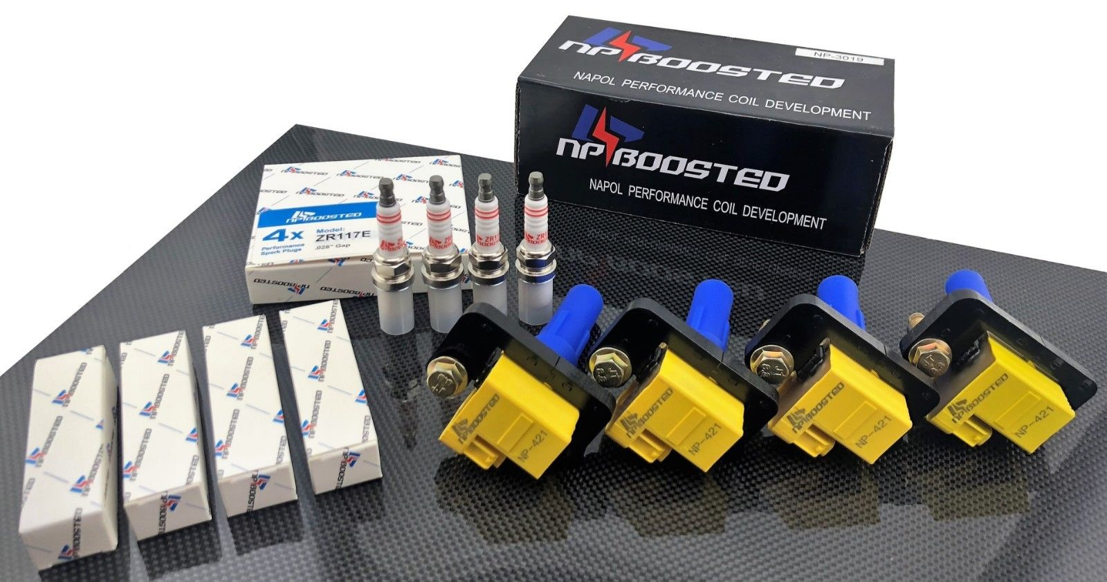 Supercharged 4 NPBoosted Performance Spark Plugs for Honda B16 B18 B20 Turbo