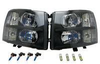 Replacement Headlights Lamp Left+Right for 2007-2014 Chevy Silverado 1500 2500HD