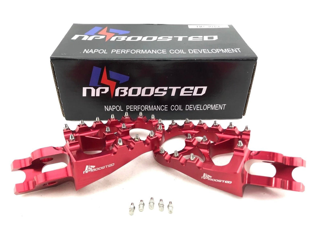 2001-2018 Honda CR125 CR150 CR250 CR450 CR RACE Foot pegs WIDE Anodized Billet