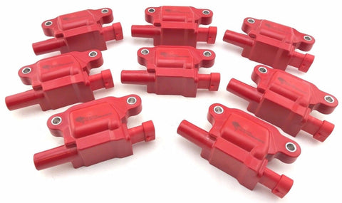 8 SET IGNITION COIL PACKS CADILLAC ESCALADE CTS CHEVROLET AVALANCHE CAMARO SS