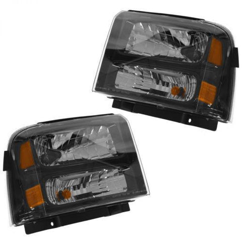 05-07 PAIR HEADLIGHTS SET FORD F-250 F-350 F250 F350 SUPERDUTY HARLEY DAVIDSON