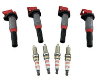 4 Pack Ignition Coils & Spark Plugs for 220i 228i 328i 428i 520i 528i X1 X3 X4