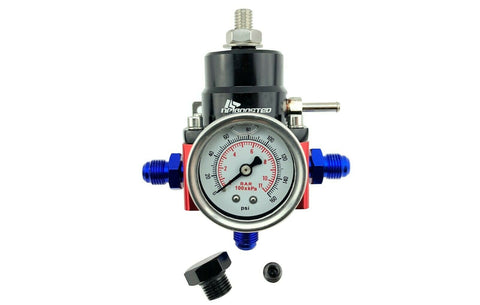 Universal Adjustable Fuel Pressure Regulator FPR & 160psi Guage + AN 6 Fittings