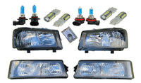 4 Black Headlights w/ LED Halogen Bulbs for 03-06 Silverado Avalanche 07 Classic