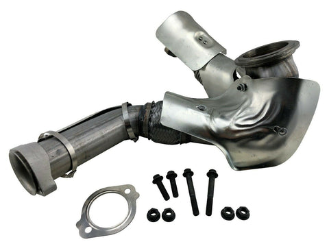 Exhaust Manifold Up Pipe Left Y for 2004-10 E350 E450 6.0L V8 Powerstroke Diesel