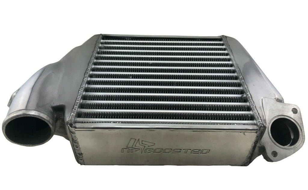 Top Mount Polished Hi FLow Intercooler Kit for 08-14 Impreza WRX Legacy Forester