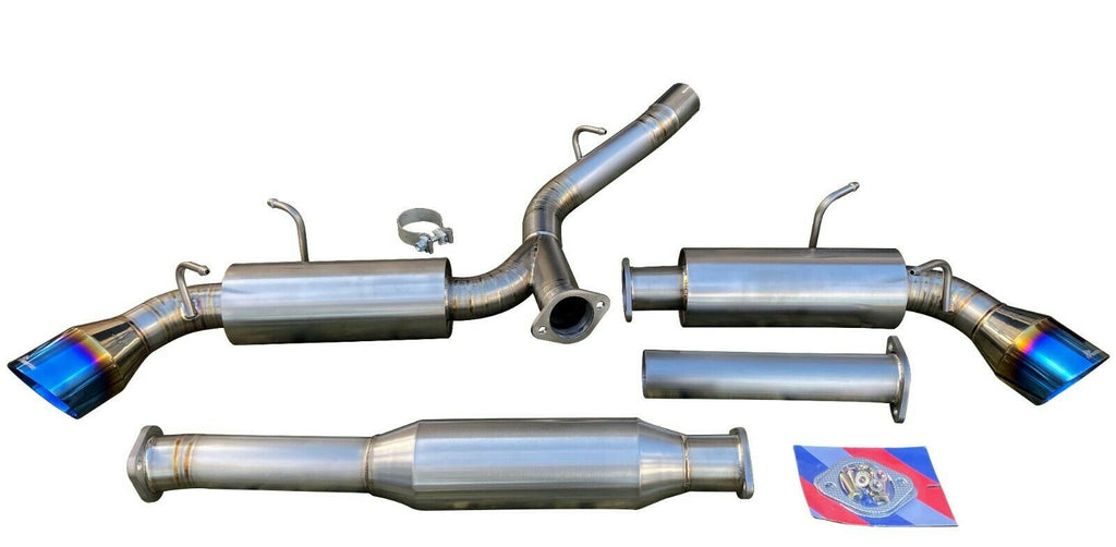 "Titanium Catback Exhaust System w/ 4.5"" Dual Burnt Tips for 2013+ FR-S GT86 BRZ"
