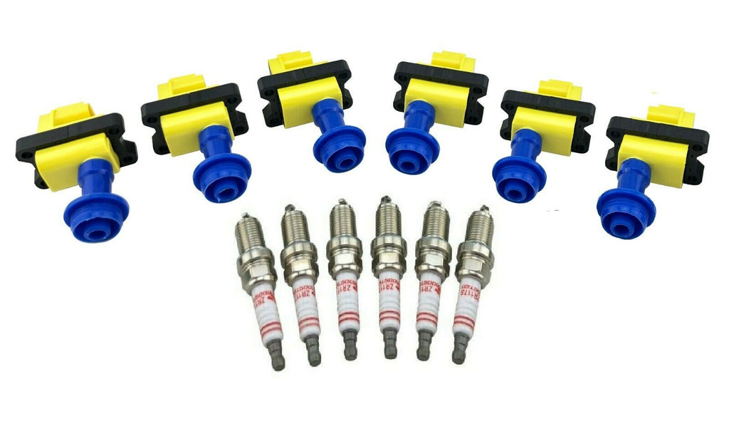 6 IGNITION COIL PACKS & SPARK PLUGS for R31 C33 A31 RB20DET LAUREL 300ZX SKYLINE