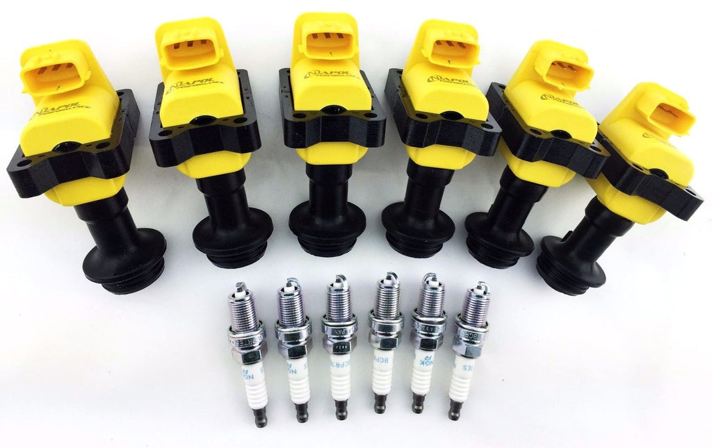 89-98 GTR GTS SKYLINE LAUREL CEFIRO IGNITION COILS R32 RB26 RB25 NGK SPARK PLUGS