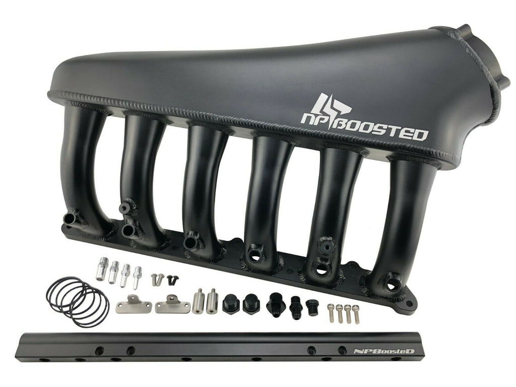 Forward Facing Billet Intake Manifold + Fuel Rail for BMW N54 3.0L I6 Twin Turbo
