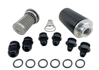 AN6 AN8 AN10 Inline Fuel Filter Kit HiFLow 100 Micron Cleanable 58mm Billet Case