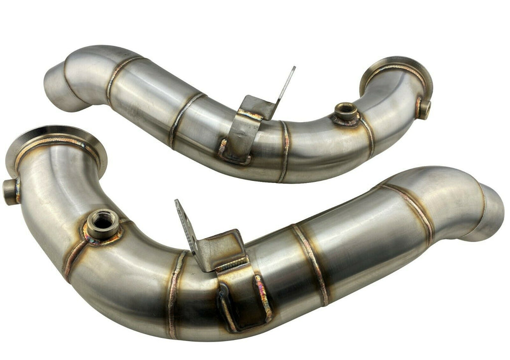 Turbo Outlet Exhaust Down Pipes for 11-18 S63 4.4L Twin Turbo M5 M6 F10 F12 F13