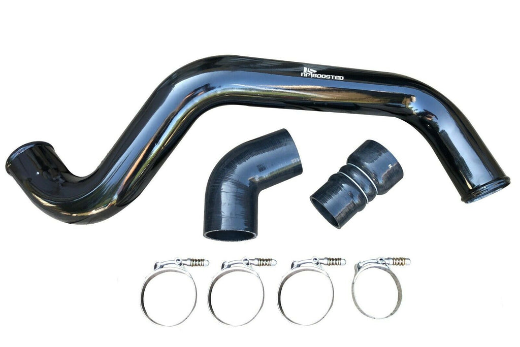 Intercooler Charge Pipe & Boot Kit + Coupler T-Bolt Clamp for 04-10 Duramax 6.6L