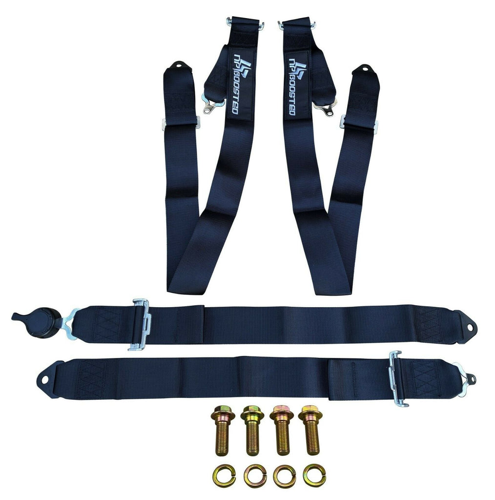 X WIDE SHOULDER STRAPS UNIVERSAL 4 POINT QUICK RELEASE SEATBELT HARNESS OFF ROAD
