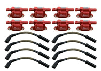8 Ignition Coil Packs + 10mm Spark Plug Wires for Corvette Z06 Camaro SS CTS-V