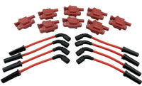 8 Ignition Coils & 10mm Plug Wires for Vette C5 C6 C7 Z06 Camaro SS CTSV 6.2 7.0