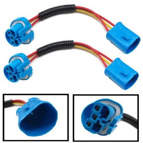 9004 9007 HB5 Extension Wiring Harness Sockets Wire For Headlights & Fog Lights