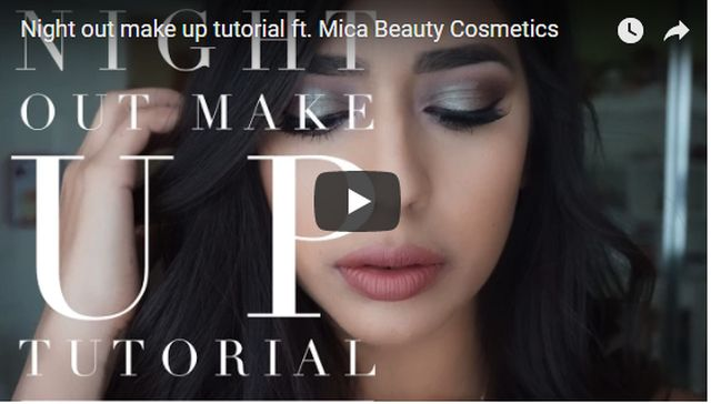 Night out make up tutorial ft. Mica Beauty Cosmetics