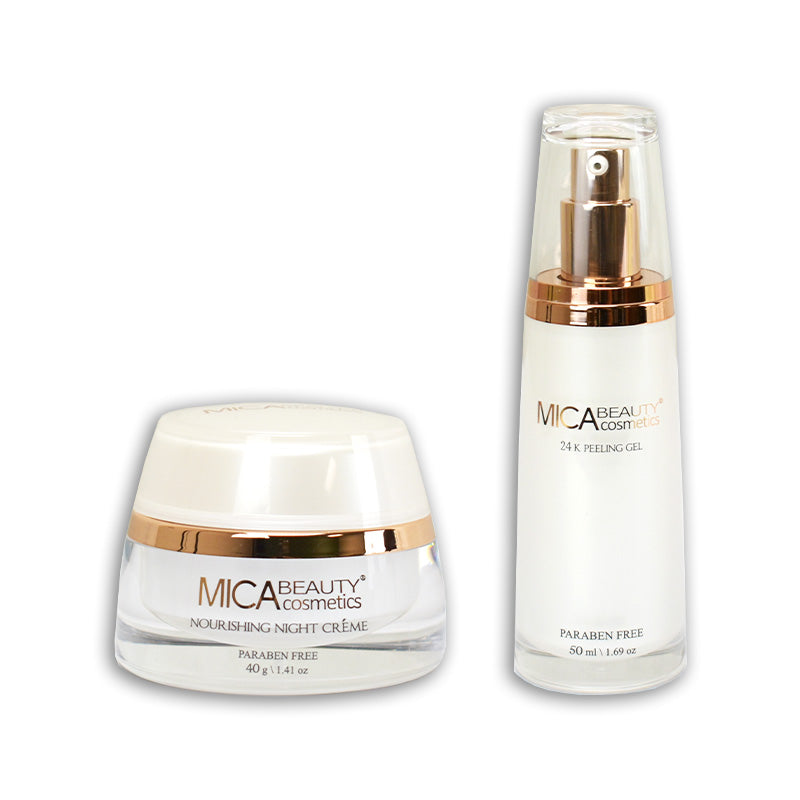 24k Peeling Gel & Nourishing Night Creme Bundle