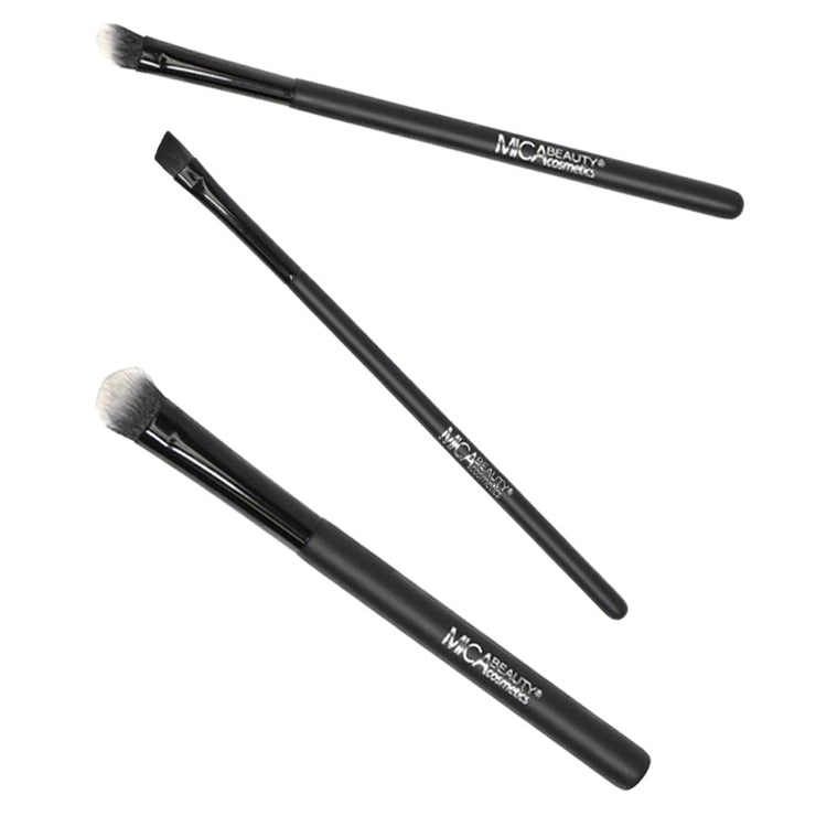 Eyeliner, Oval and, Angled Brush Trio Bag Kit